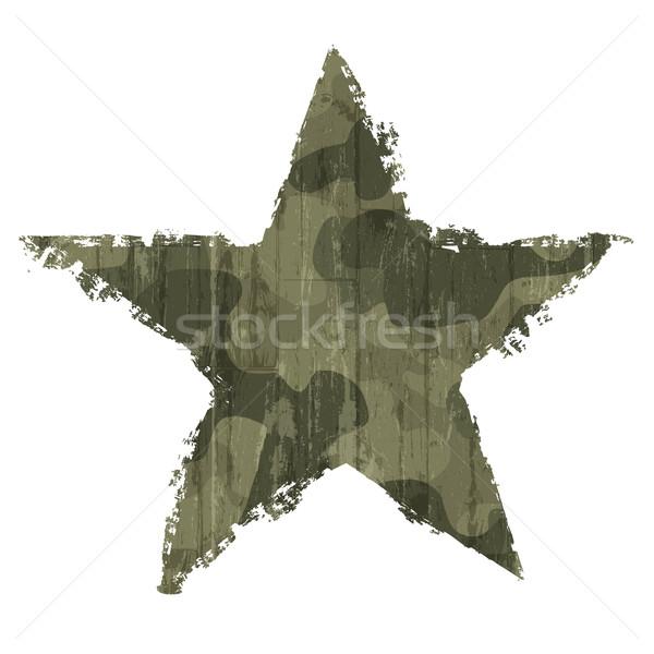Kamuflaż star symbol wektora eps10 lasu Zdjęcia stock © pashabo