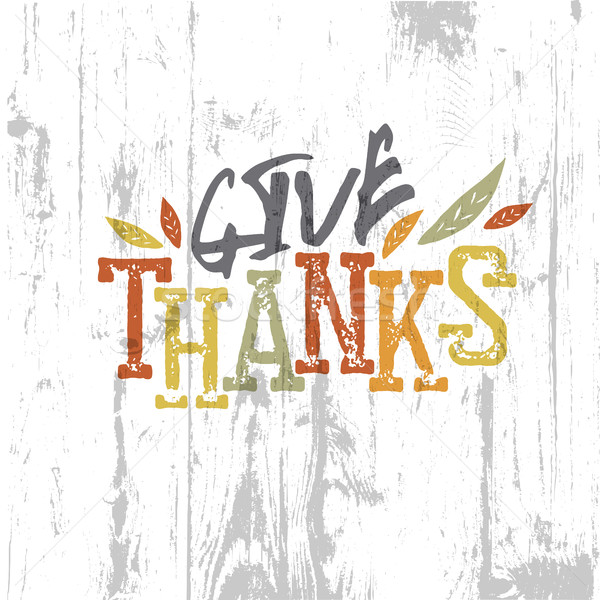 Happy Thanksgiving design. Give Thanks Logo. For holiday greetin Stock photo © pashabo