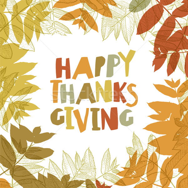 Happy Thanksgiving day design cover. Holiday background template Stock photo © pashabo