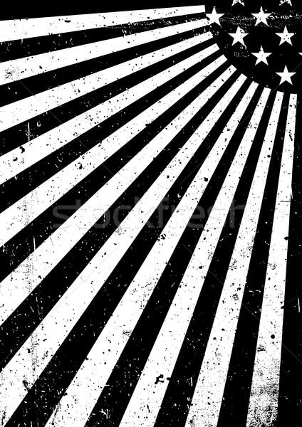 Grunge feketefehér Amerika zászló absztrakt amerikai Stock fotó © pashabo