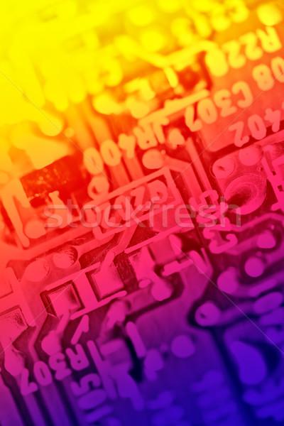 Electrónico componentes resumen ordenador textura Foto stock © pashabo