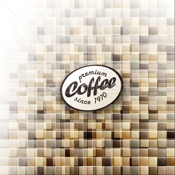 Coffee themed abstract design template. Vector, EPS10 Stock photo © pashabo