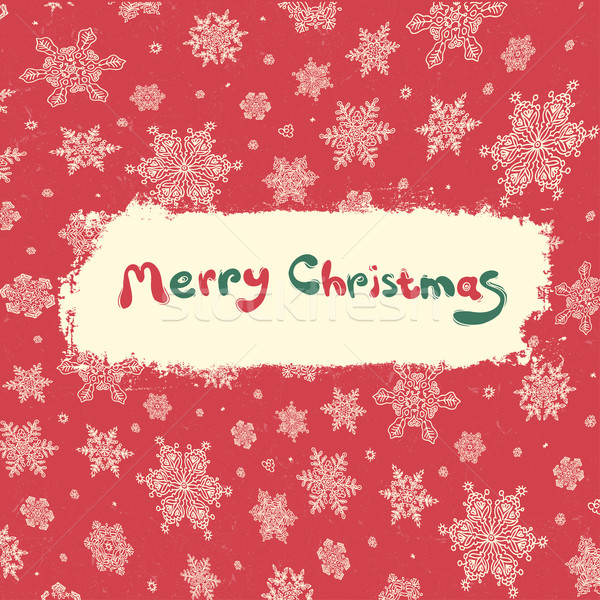 Christmas retro greeting card design. Vector illustration, EPS8 Stock photo © pashabo