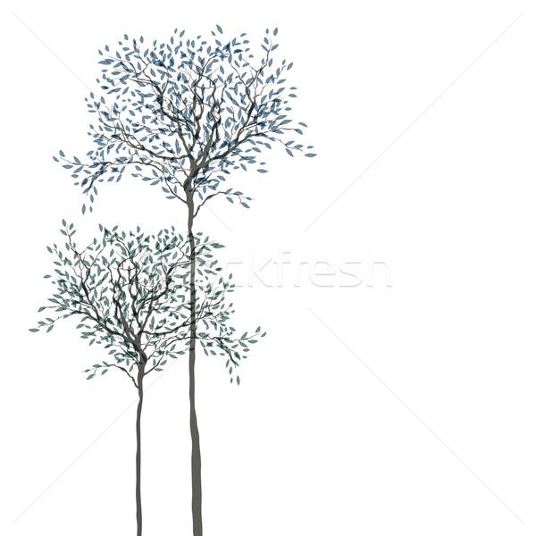 Bomen bladeren apart lagen bloem boom Stockfoto © pashabo