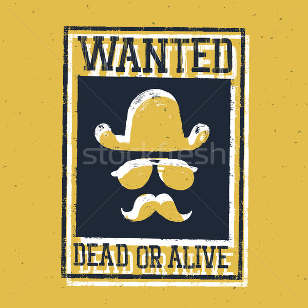 Wild west poster 'Wanted dead or alive...'. On paper texture Stock photo © pashabo