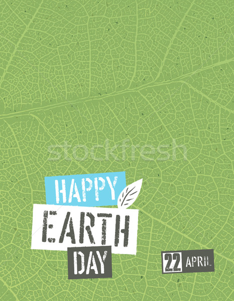 Happy Earth Day. Poster template with free space for text or ima Stock photo © pashabo