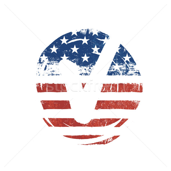 Voting mark. American lag background. Vote grunge vector symbol. Stock photo © pashabo