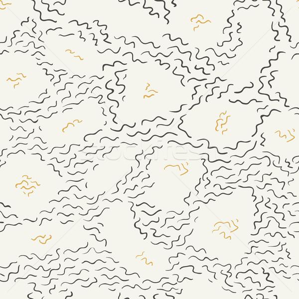 Doodle line pattern nero Foto d'archivio © pashabo