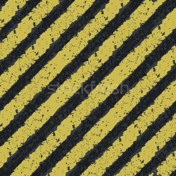 Hazard_yellow_lines. Vector, EPS8 Stock photo © pashabo