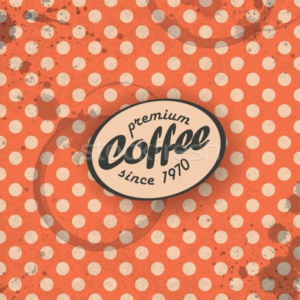 Coffee themed retro background, vector. EPS10 Stock photo © pashabo