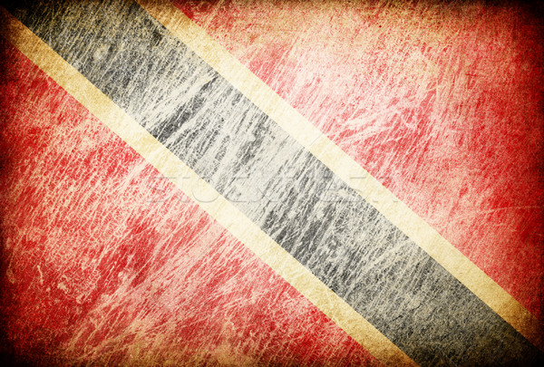 Grunge rubbed flag series of backgrounds. Trinidad and Tobago. Stock photo © pashabo