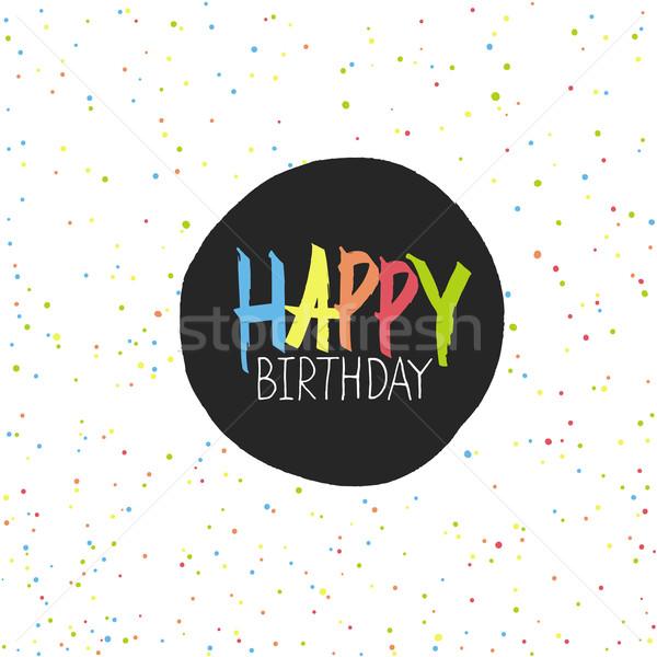 Boldog születésnapot ünnepek kaotikus végtelenített vektor minta Stock fotó © pashabo