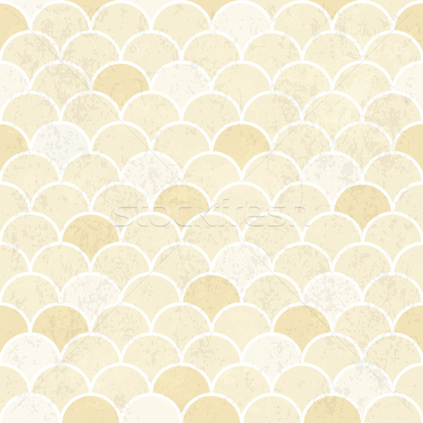 Fish Scales Pattern  Seamless Vintage Background  Grunge