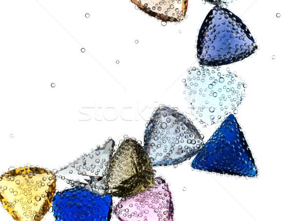 Stock fotó: Drágakövek · zuhan · merő · víz · fehér · kék