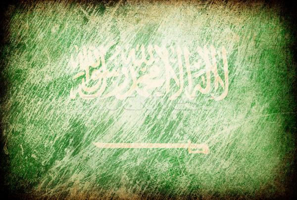 Grunge rubbed flag series of backgrounds. Saudi Arabia. Stock photo © pashabo