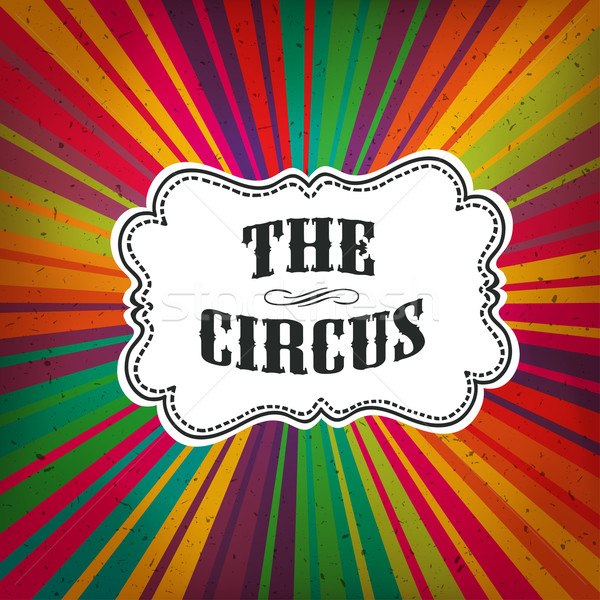 Circus Abstract Poster with Colored Rays Stock photo © pashabo