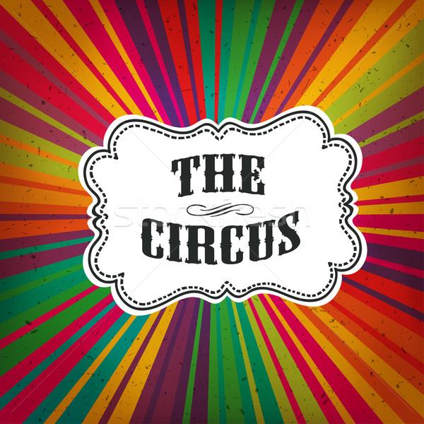 Circus abstract poster gekleurd stralen textuur Stockfoto © pashabo