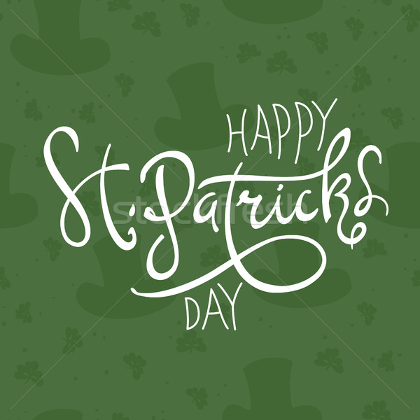 Happy Saint Patrick's Day logotype. Celebration design for March Stock photo © pashabo