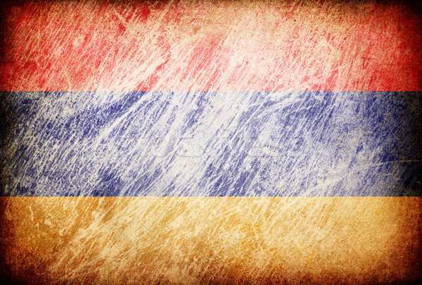 Grunge rubbed flag series of backgrounds. Armenia. Stock photo © pashabo