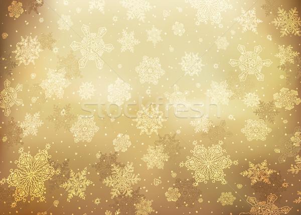 Stockfoto: Christmas · gouden · abstract · eps10 · papier · textuur