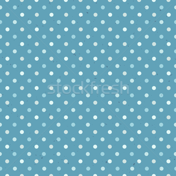 Blue Textured Polka Dot Seamless Pattern Stock photo © pashabo