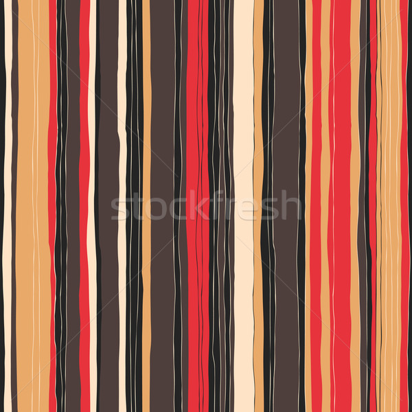 Abstract retro colors stripes pattern. Seamless hand-drawn lines Stock photo © pashabo
