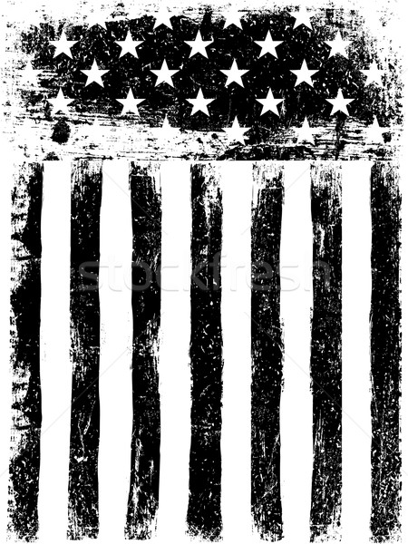 Stars and Stripes. Monochrome Photocopy American Flag Background Stock photo © pashabo
