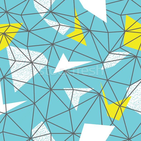 Tel kafes tekrar model karalamalar vektör Stok fotoğraf © pashabo