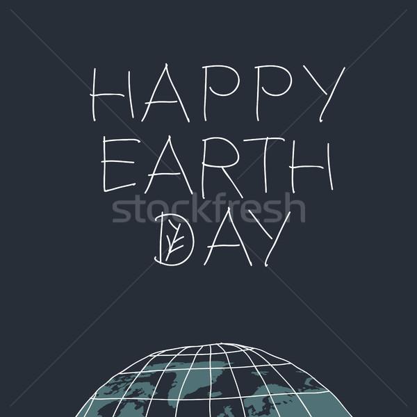 Stok fotoğraf: Mutlu · sözler · gezegen · dünya · gezegeni · yaprak