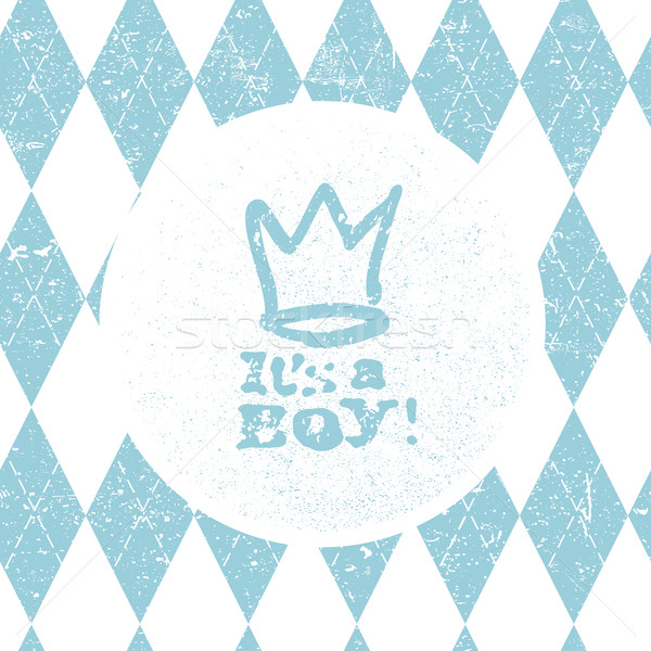 It's a boy lettering. Baby shower party design element. Vector g Stock photo © pashabo