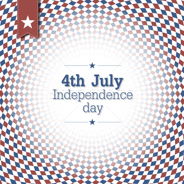 Independence Day. 4th of July. Poster design with blue and red c Stock photo © pashabo