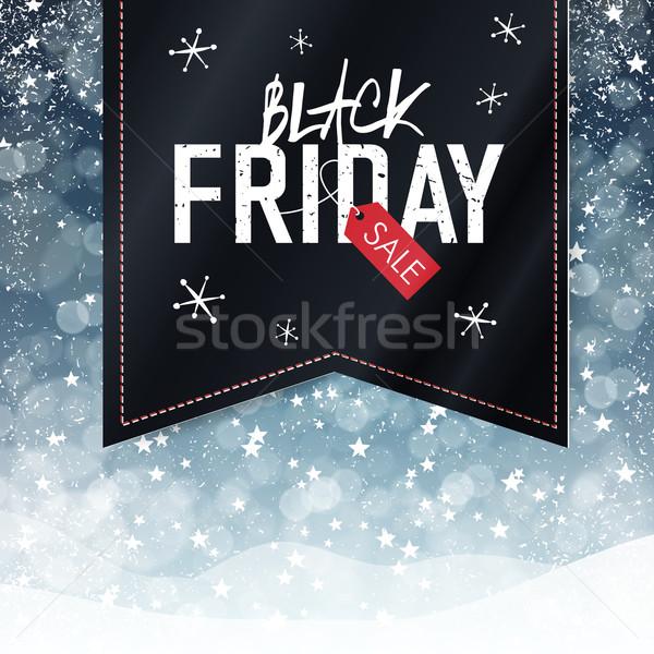черная пятница продажи реклама плакат снега осень Сток-фото © pashabo