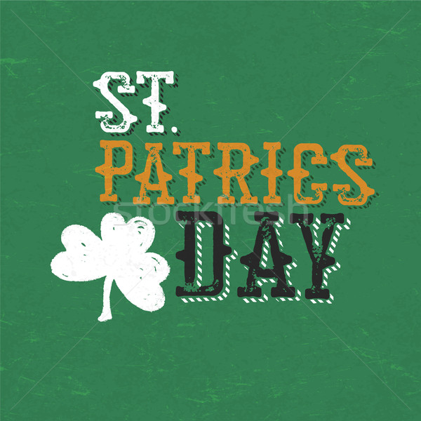 Vintage typographic design for St. Patrick's Day. Stock photo © pashabo