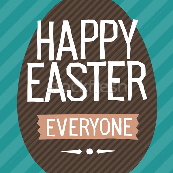 Happy Easter Everyone. Easter Egg Vector Illustration.  Stock photo © pashabo