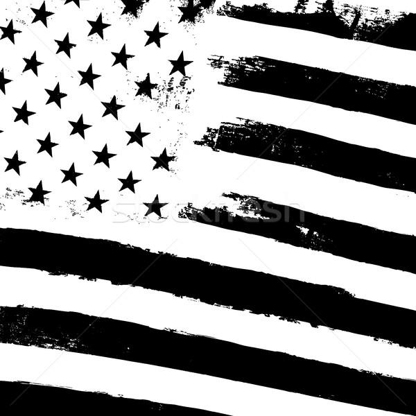 Monochrome grunge american flag background. Patriotic design tem Stock photo © pashabo