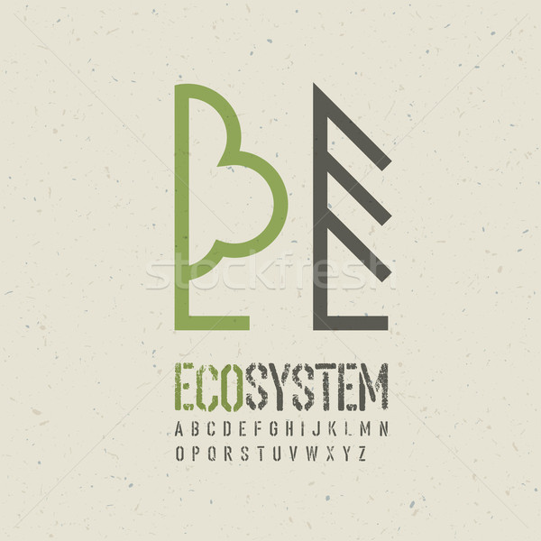 экологический эмблема шаблон eps10 весны аннотация Сток-фото © pashabo
