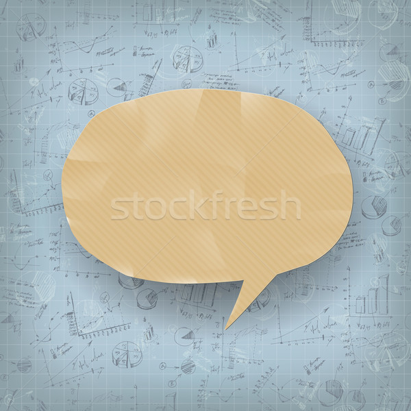 Abstract business background with hand drawn charts and graphs.  Stock photo © pashabo