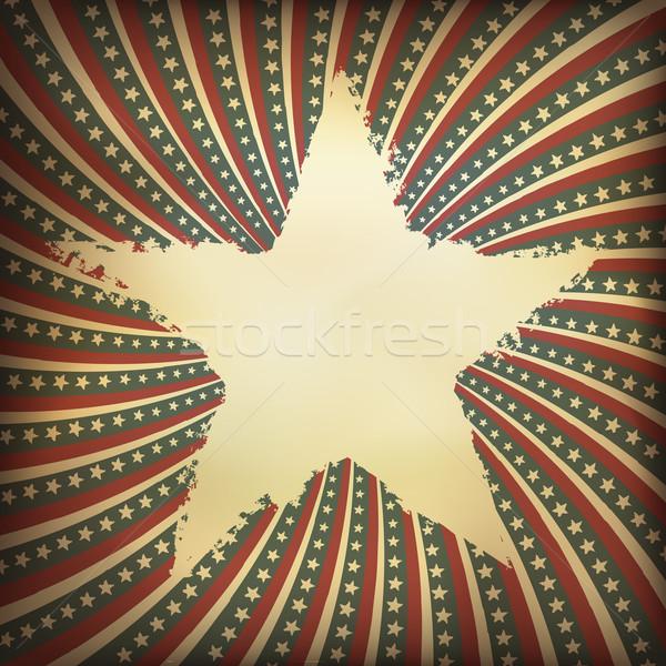 Vaderlandslievend grunge label vector eps10 textuur Stockfoto © pashabo