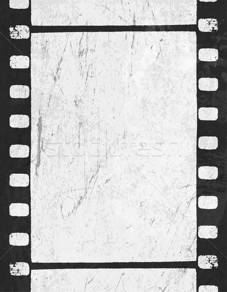 Grunge tek renkli filmstrip uzay metin vektör Stok fotoğraf © pashabo