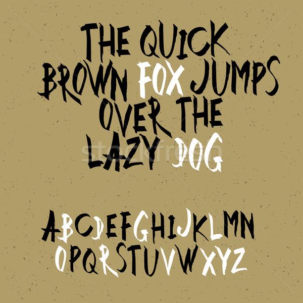 Uppercase alphabet letters. Hand drawn letters. Vector alphabet. Stock photo © pashabo