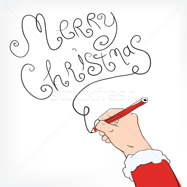 Christmas postal with congratulation from Santa Claus Stock photo © pashabo