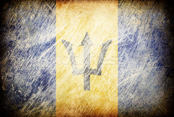 Grunge rubbed flag series of backgrounds. Barbados. Stock photo © pashabo