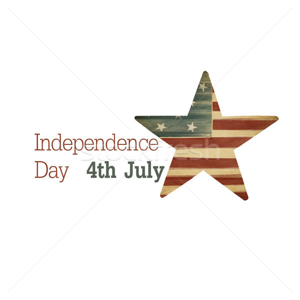 Independence day. Composition from text and star symbol. Raster  Stock photo © pashabo
