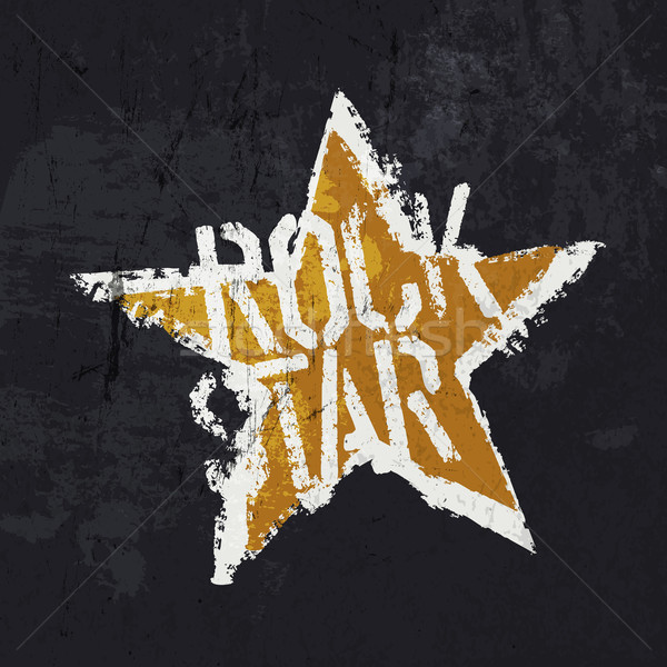Grunge 'Rockstar' illustration. Design template: symbol and grun Stock photo © pashabo