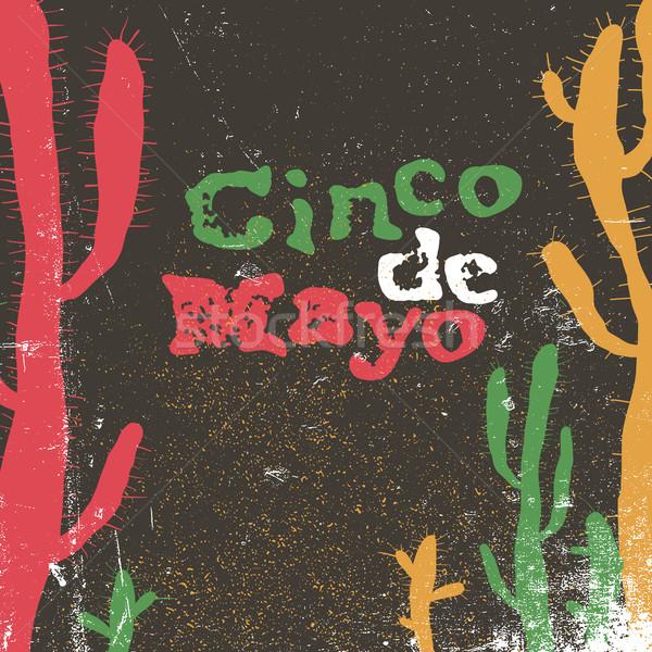 Cinco de Mayo vector illustration. 5 of May holiday vector. Cinc Stock photo © pashabo