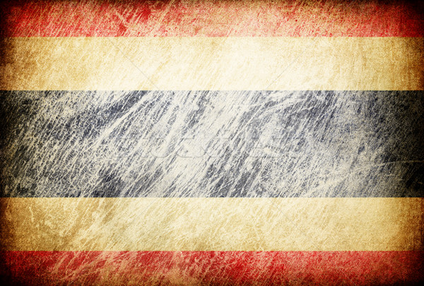 Grunge rubbed flag series of backgrounds. Thailand. Stock photo © pashabo
