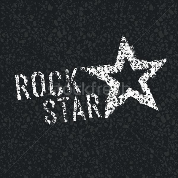 Rock Star Symbol on Asphalt Texture Stock photo © pashabo