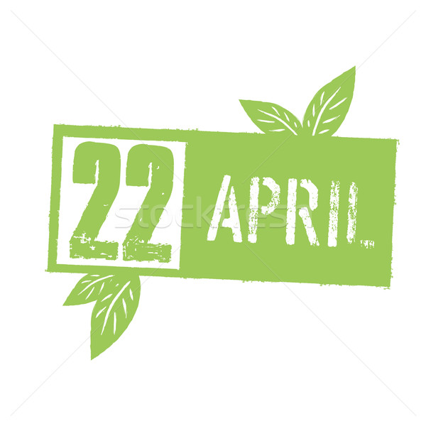 '22 April' Typographic design for Earth Day. Concept Lettering W Stock photo © pashabo