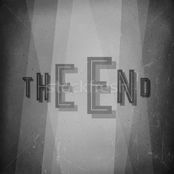 конец фильма аннотация экране старые кино Сток-фото © pashabo