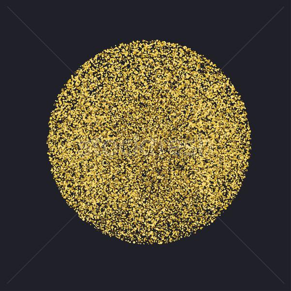 Círculo oro brillo partículas negro dorado Foto stock © pashabo